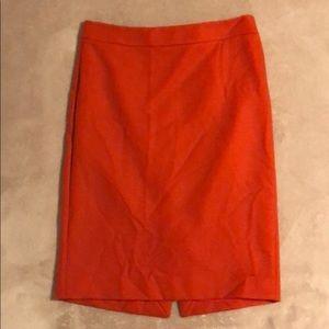 J.Crew No 2 Pencil Skirt Wool Burnt Orange Sz 4 🍊
